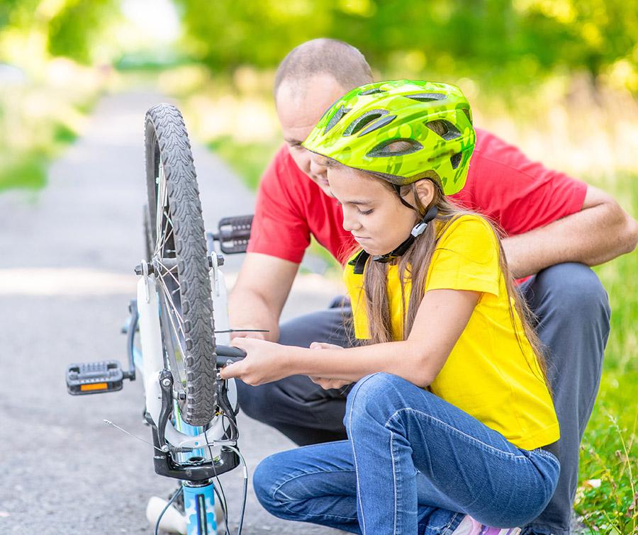 atelier de réparation de roues de vélos